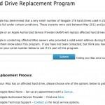 Un programme d'échange de disque pour les Seagate 1To des Mac 2011