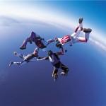 Le saut en parachute au ralenti