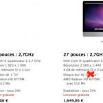 Bug Apple Store sur les nouveaux iMac Attention